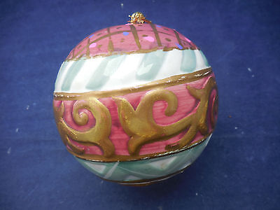 Large Ceramic Christmas Ball 4""