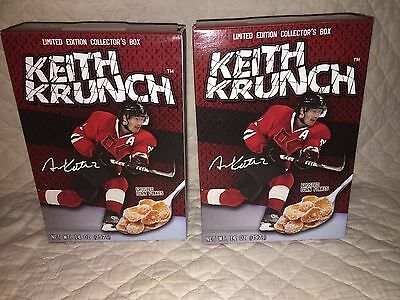 2 Pack Duncan Keith KEITH KRUNCH CEREAL, Limited Edition Collector's, Blackhawks