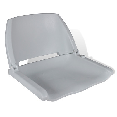 S# New Deluxe Boat Seat Grey Folding Marine Fishing Traveller Chair All Weather