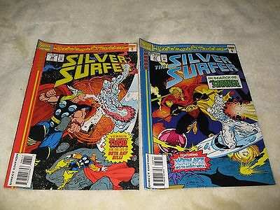 2 Silver Surfer Marvel Comics Issues 86 & 87 Featuring Thor,warlock & Dr Strange
