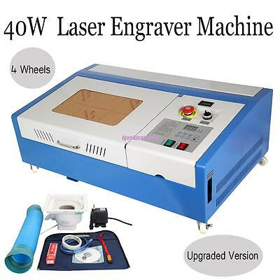 40W USB CO2 Laser Engraving Cutting Engraver Wood working/Crafts & Water Pump