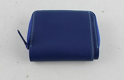 New With Tags Women's MYWALIT Blue Leather ID Wallet