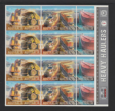 Australia 2008 : Heavy Haulers, Booklet of 20 x 50c Self-adhesive Stamps,