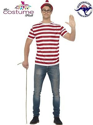 Mens Licensed Wheres Wally Fancy Dress Kit Where's Wally Set
