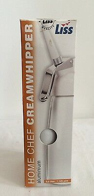 Liss Whipped Cream Whipper Dispenser Use With Nitrous Oxide Chargers 8g