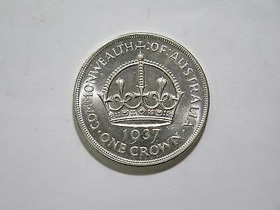 1937 Commonwealth Of Australia 1 Crown Silver Old World Coin Collection Lot L@@k