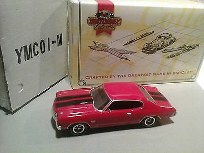 Matchbox 1970 Chevrolet Chevelle SS Red Black Stripes Scale 1:43
