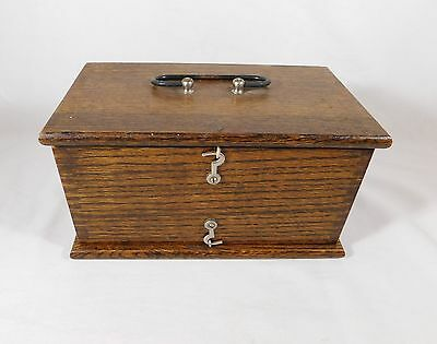 Antique Quack Electricity Electric Medical Device Battery Op Nice Oak Case