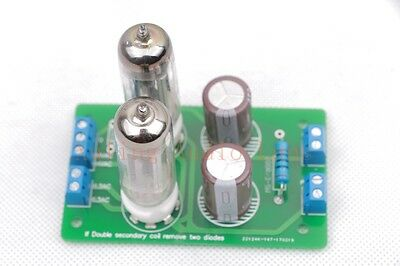 1piece Dual 6Z4 tubes DIY Rectifier PCB Assembled with two 6Z4 tubes
