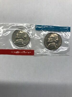 1968-D & S Choice Uncirculated Jefferson Nickels In Mint Set Cello