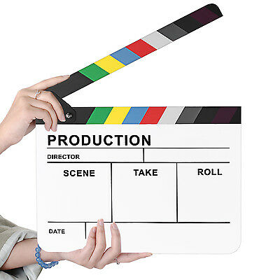 "Neewer 10""*12"" Acrylic Colorful Director's Movie Film Clapper Clapboard"