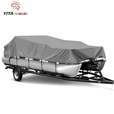 21 22 23 24 Ft Waterproof Trailerable Heavy Duty Boat Cover Pontoon 102'' Beam
