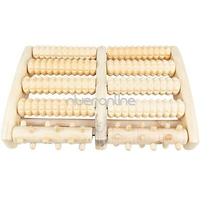 5 Rows Wooden Roller Foot Massager Stress Relief Health Therapy Relax Massage