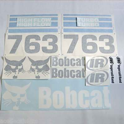 ANY MODEL Bobcat 763 DECALS Stickers Skid Steer loader New Repro decal Kit