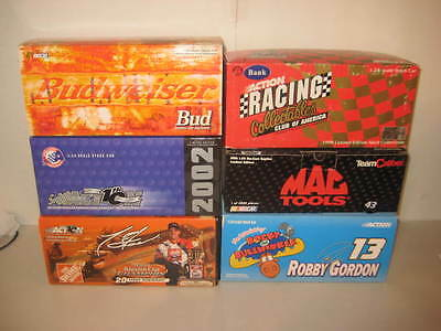 Lot of 6 Action Diecast Cars Nascar 1:24 Action