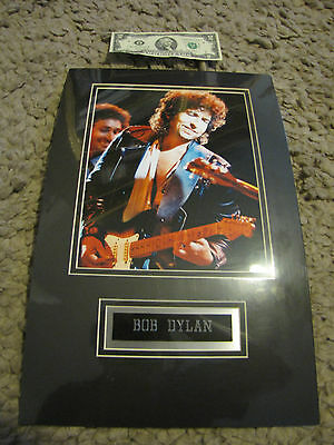 Bob Dylan Sealed Double Matted Poster w/ Embossed Nameplate 1980's ?