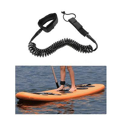 Surfboard Leash Surfing Foot Rope Stand Up Paddle Board LeashCoiledCord 12' U6J1