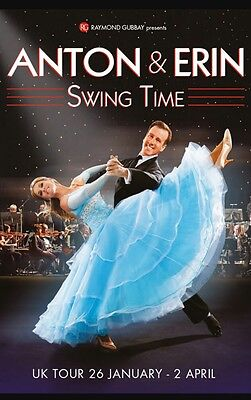 ANTON AND ERIN SWING TIME Tickets - BRIDGEWATER MANCHESTER SAT 25TH FEBRUARY