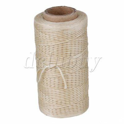 210D Leather Waxed Wax Thread Cord Beige Craft Tool For Hand Stitching 180 Meter