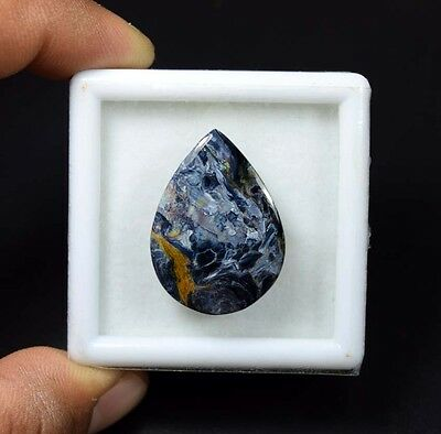 21.15 Cts. 100 % Natural Chatoyant Pietersite Pear Cabochon Untreated Loose Gems