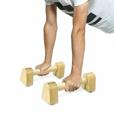 Wood I-shape Non-slip Pull-up Bar Brackets Arm Muscle Training Fitness Equipment