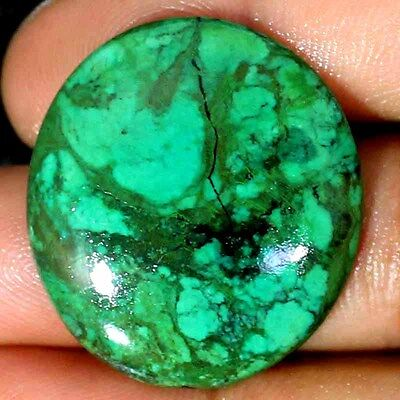 ~UNTREATED~ 33.90 CTs NATURAL DESIGNER TIBET TURQUOISE OVAL CABOCHON GEMSTONE