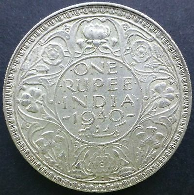 1940 British India One Rupee Coin