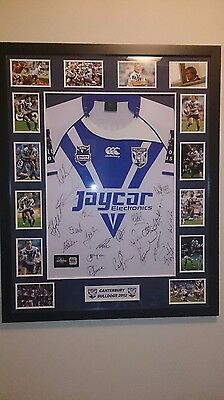 Canterbury Bulldogs Grand Finalists Signed And Framed 2012 Nrl Jersey