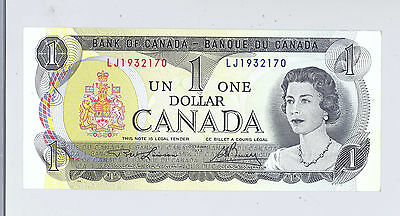 $1 Canada Canadian Bank Note Perfect Mint Condition Currency
