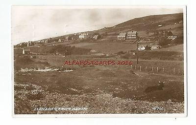 Wales Merionethshire Llanaber From Beach Real Photo Vintage Postcard 21.12