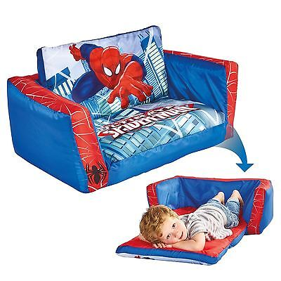 Spiderman Flip Out Sofa Childrens Extends Lounger Bed Official Free P+P 286Sdm