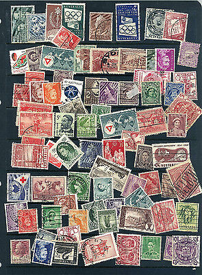 Australia Early Stamp Collection Stamps Upto 10/- Values