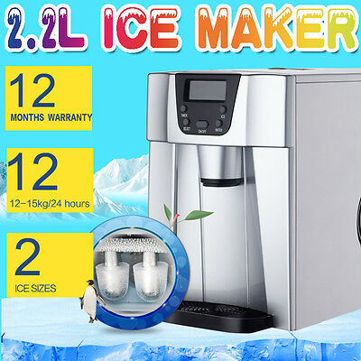 Toolrock Countertop Portable Ice Maker Machine Restaurant Cafe Bar Home 15KG/Day