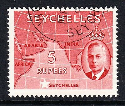 SEYCHELLES 1952 5r RED SG 171 FINE USED.