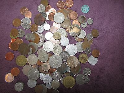 Bundle/job Lot Of 0Ver 150 Old Foreign Coins