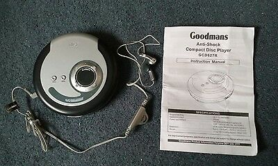 Goodmans GCD627R - Portable Anti Shock CD Player - With Carry Case