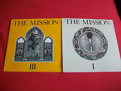"""The Mission - 2 - 12"""" Singles - Serpents Kiss & Stay With Me - Both Ex+ Cond."""