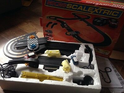 micro scalextric bmw mini cooper racing track toys game cars boxed