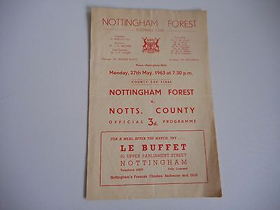 NOTTINGHAM FOREST  v  NOTTS COUNTY 1962/3 ' DERBY ' COUNTY CUP FINAL ~ MAY 27th
