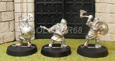 3 DWARF WARRIORS - Lord Of The Rings Metal Figure(s)