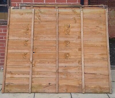 7 Wooden Fence Panels (H=5ft W=6ft)