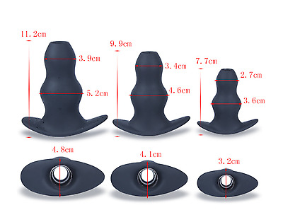 *** 3 Sizes Through Hole Large Sex_Dildo Anal_Toy Male Female Adult Toy  ***