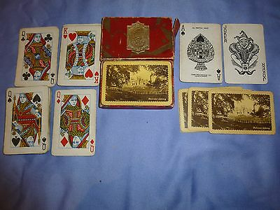 Vintage Collectable  Boxed Set Waddingtons Playing Cards. Melrose Abbey