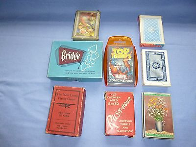 Job Lot Vintage Collectable   Playing Cards Card Games Rush Hour Flying Game Etc