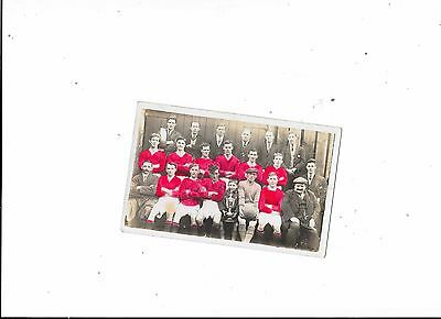 Postcard Unknown Football Team Group Colour
