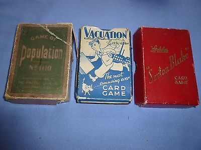 Job Lot Rare  Vintage Collectable  Playing Card Games Vacuation Sexton Blake Etc