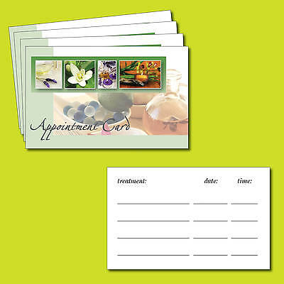 Beauty Spa, Salon, Treatment, Massage, Aromatherapy, Appointment cards x 100