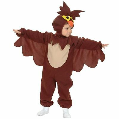 Boys Girls Toddler Kids Wise Owl Fancy Dress Costume Animal 2 - 4 Years