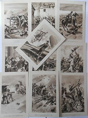 ten oversized  first war  illustrated military postcards   cabinet souvenir
