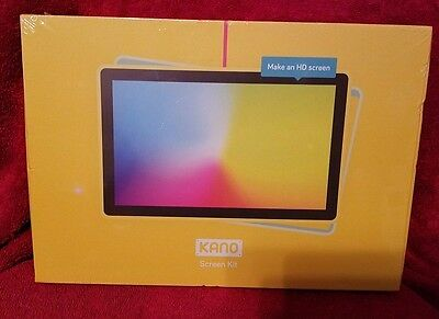 Kano Build Your Own Computer Screen Kit  - Yellow  Free Shipping Sealed NEW